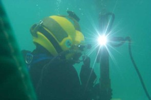 Underwater welding is a cool job